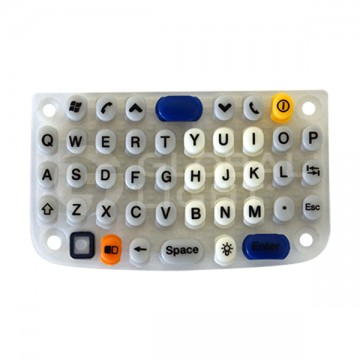 Keypad, 46-key, rubber, translucent, Intermec, CN3