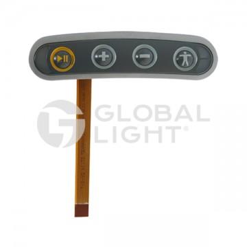 Keypad, 4-key, plastic frame, Vocollect, Talkman T5