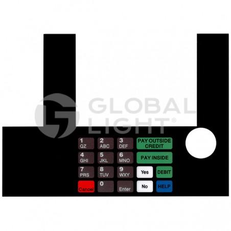 InfoScreen Keypad Overlay, Gilbarco Advantage, T50038-1041