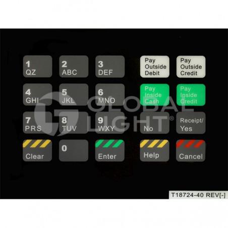 Gilbarco Advantage, Texaco, CRIND Keypad Overlay, T18724-40