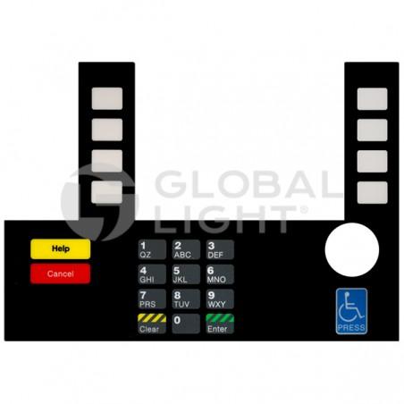Gilbarco Advantage Shell, InfoScreen Keypad Overlay, T50038-121A