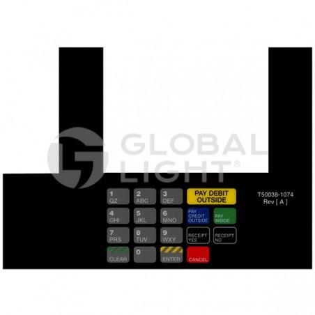 Gilbarco Advantage, Racetrack, InfoScreen Keypad Overlay, T50038-1074