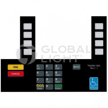 Gilbarco Advantage, Shell, InfoScreen Keypad Overlay, T50038-123A