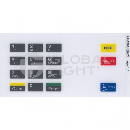 Gilbarco Encore Shell, CRIND Keypad Overlay, EU03004G071