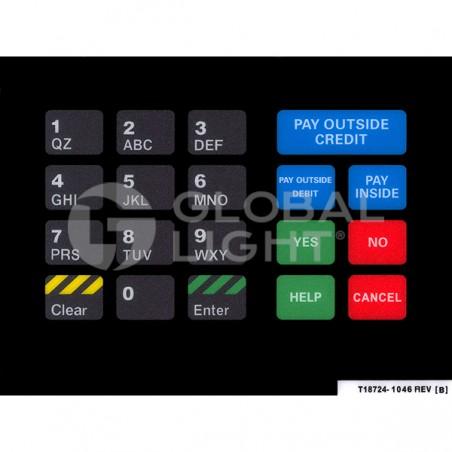 Gilbarco Advantage CircleK, CRIND Keypad Overlay, T18724-1046