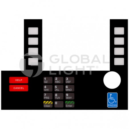 Gilbarco Advantage, Generic InfoScreen Keypad Overlay, T50038-134A