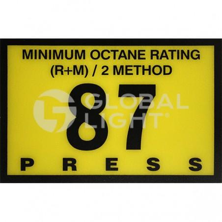 Gilbarco Advantage, 87 Octane Overlay, R60030-12