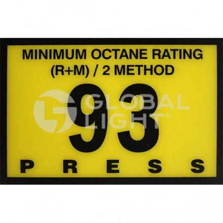 Gilbarco Advantage, 93 Octane Overlay, R60030-G93