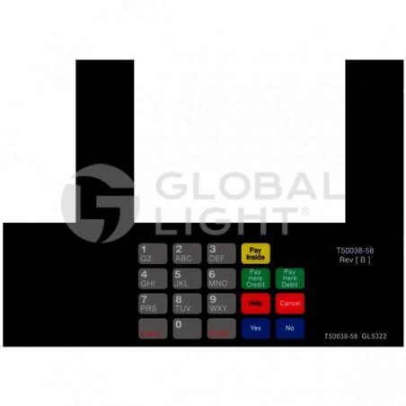 Gilbarco Advantage, Diamond Shamrock, InfoScreen Keypad Overlay, T50038-58