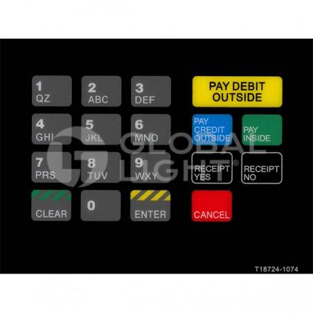 Gilbarco Advantage, RaceTrac, CRIND Keypad Overlay, T18724-1074