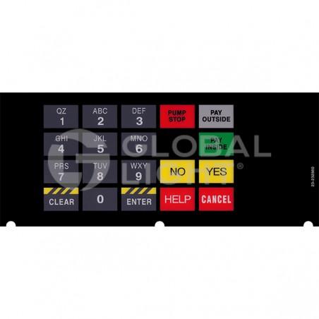 Tokheim Premier B Conoco 4x6 Keypad Overlay, 23-232860
