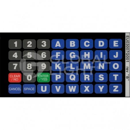 Gilbarco Encore, Flying J Alpha-Numeric Keypad Overlay, EU03007G001
