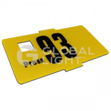 13-Key Metal Plate with...