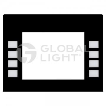 Gilbarco Encore, Monochrome Softkey Black Overlay, ENE0301G001