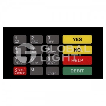 Gilbarco Advantage, Keypad Overlay, Made to Replace: T50067-1076