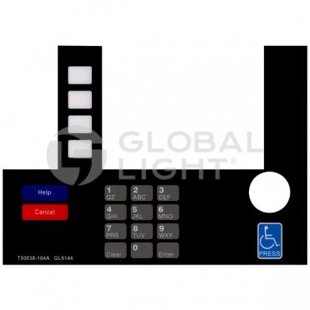 InfoScreen Keypad Overlay, Gilbarco Advantage, T50038-104A