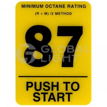 87 Octane Overlay, Tokheim...