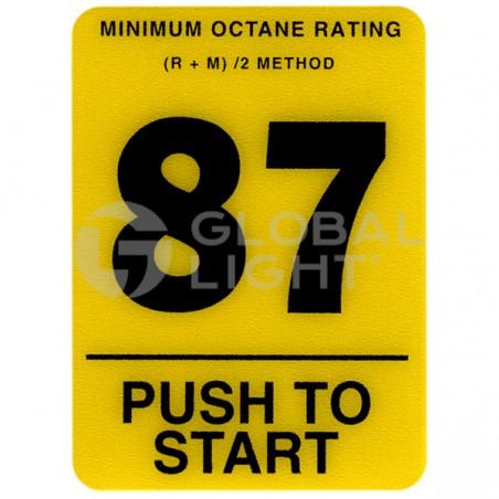 87 Octane Overlay, Tokheim Premier, 4-233695