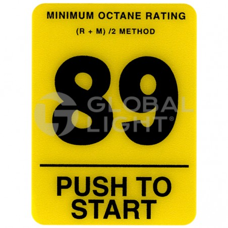 89 Octane Overlay, Tokheim Premier, 5-233695
