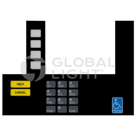 Gilbarco Advantage UNOCAL, InfoScreen Keypad Overlay (works with T19525-03 & K94396-02), T50038-102A