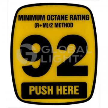 92 Octane Decal, Wayne...