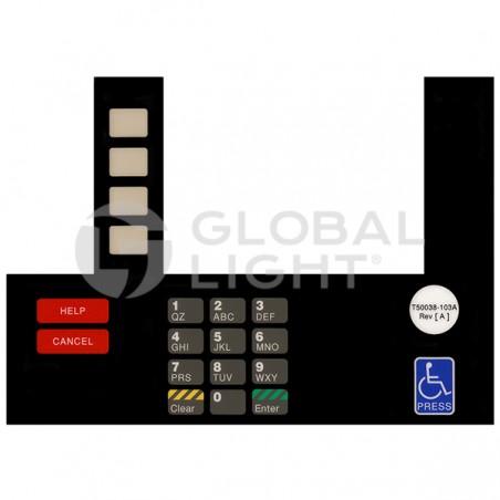 InfoScreen Keypad Overlay, Gilbarco Advantage, T50038-103A