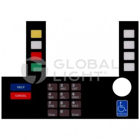 InfoScreen Keypad Overlay, Gilbarco Advantage, T50038-120A