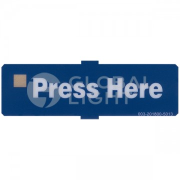 Press Here Blue Decal,...
