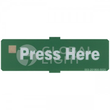 Press Here Green Decal,...