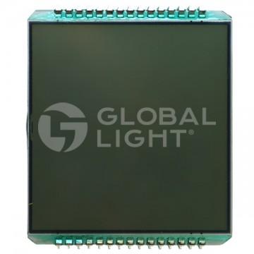 Display double line LCD, 30 Pins, 8 Digits, Wayne Vista