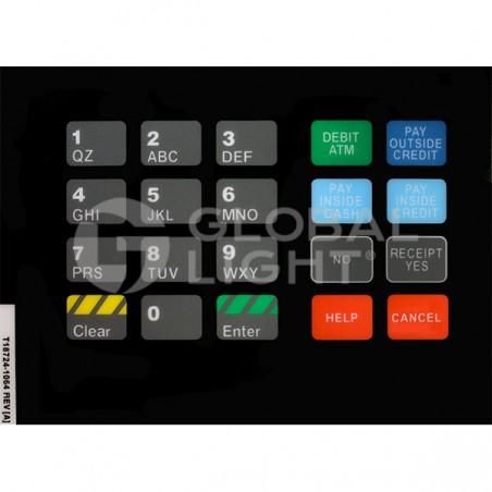 CRIND Keypad Overlay, Gilbarco Advantage, T18724-1064