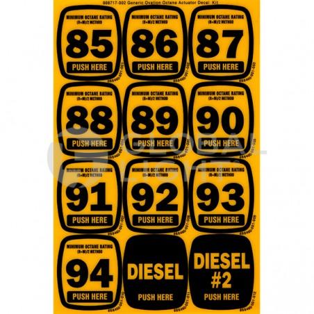 Octane Sheet 85 to 94 Diesel, Wayne Ovation, 888717-002