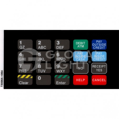 Key Overlay ADA, Gilbarco Advantage, T50064-1064