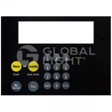 Keypad Overlay  with adhesive