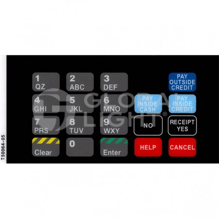CRIND Keypad Overlay, Gilbarco Advantage, T50064-05