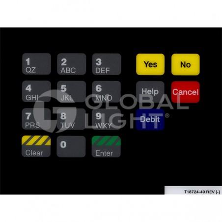 CRIND Keypad Overlay, Gilbarco Advantage, T18724-49