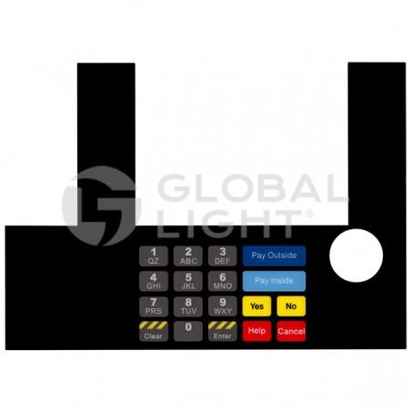 InfoScreen Keypad Overlay, Gilbarco Advantage, T50038-1096