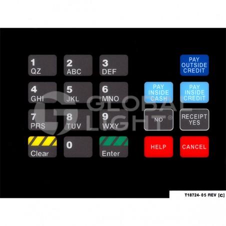 CRIND Keypad Overlay, Gilbarco Advantage, T18724-05